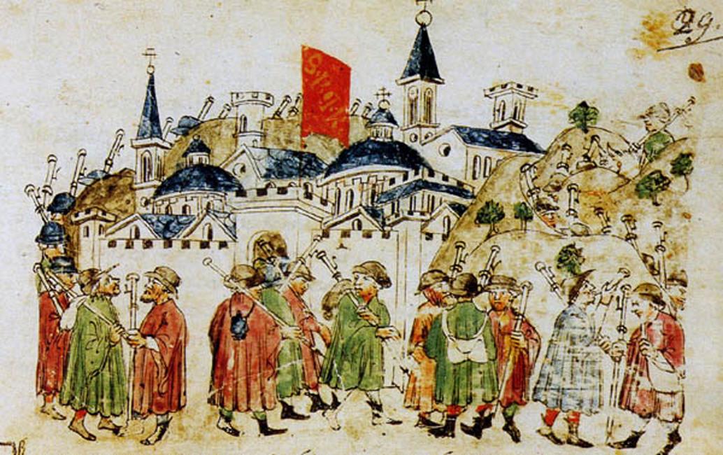 Паломники, идущие в Рим на празднование 1300 года.